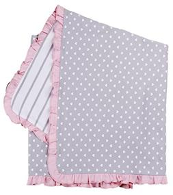 Asher and Olivia Baby Girls' Receiving Blankets Reversible P