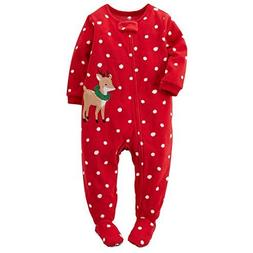 Carter's Baby Girls' 1-Piece Footed Fleece Pajamas Pj's Polk