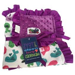 Baby Girls Reversible Minky Velboa Stroller Blanket
