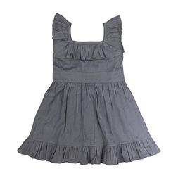 Kate Quinn Organics Baby Girls Ruffle Square Neck Dress, 6-1
