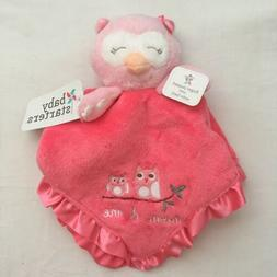 Baby Girls Security Blanket, Owl, Rattle, Puppet, Pink, Show