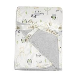 Chick Pea Baby Grey Forest Soft Mink Printed Blanket with Sh