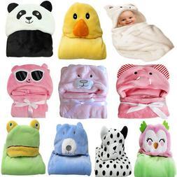 Baby Infant Newborn Velvet Hooded Blanket Pram Crib Basket B