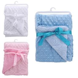 Baby Infant Soft Blanket Pram Cot Bed Basket Sleeping Bag Sw