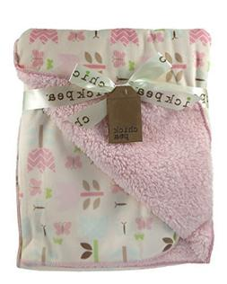 Chick Pea Baby Ivory Tulips Soft Mink Printed Blanket with S