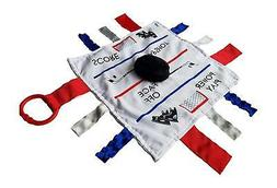 Baby Jack Lovey Security Baby Blanket Hockey Sensory Tag Che