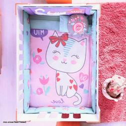 Baby KITTY CRIB SET BABY Girl Gift Bedding Shower Nursery 6