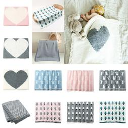 Baby Knitted Blanket Soft Swaddle Infant Wrap Bedding Quilt