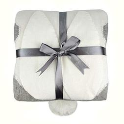 """Zebrum Baby Knitted Cotton Blanket, 30""""x39"""" Cuddle Sheet for"""