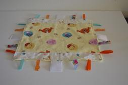 Baby Lovey Pooh Blanket Handmade, Flannel & Minky, Ribbon, 1