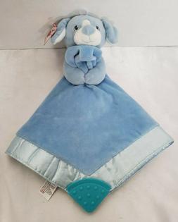 "Gund Baby Lovey Puppy Dog Blue Security Blanket Teether 12"""