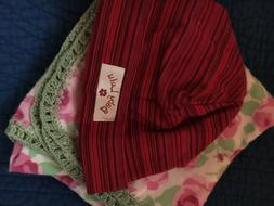 baby lulu red hat with rose flannel blanket