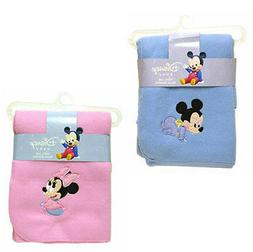 "Disney Baby Mickey Mouse - Minnie Fleece Throw Blanket 31"" x"