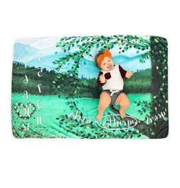 Baby Milestone Blanket Baby Shower Gifts  Boys Girls Ultra S