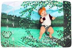 Baby Milestone Blanket Baby Shower Gifts for Boys or Girls -