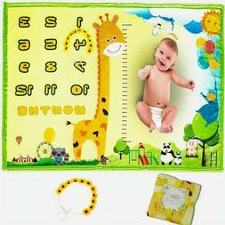 Baby Milestone Blanket Boy & Girl - Premium Thick Soft Flann
