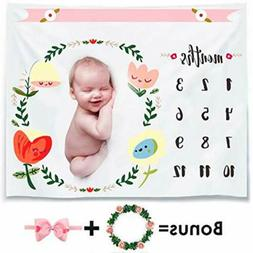 Baby Milestone Blanket Cotton 100*100mm IN USA STOCK