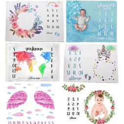 Baby Milestone Blanket Girls 75*100 Monthly Personalized Pho