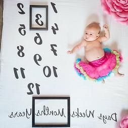 Danha Baby Milestone Blanket Monthly Photo Prop | Infant Bab