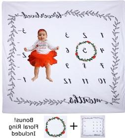baby milestone blanket monthly photography photo prop
