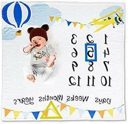 Baby Business Baby Milestone Blanket Ultra Soft 100% Polyest
