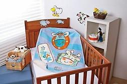 Baby Mink Luxurious Crib Sherpa Blanket with Super Friends H