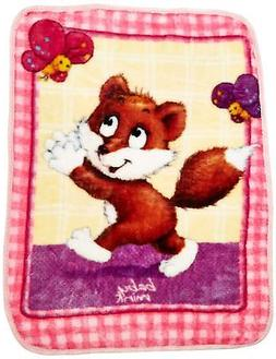 Baby Mink Ultra Soft Plush Fleece Blanket Frisky Fox - FREE