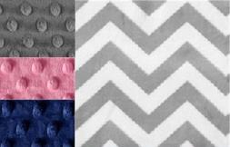 Baby Minky Blanket Unisex Gray Chevron /Stroller Blanket/Lov
