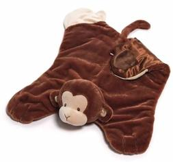 Gund Baby Monkey Comfy Cozy Baby Security Blanket Nicky Nood