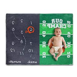 Homegician Baby Monthly Milestone Blanket for Boy Girl - New