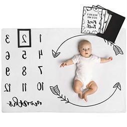Henry Hunter Baby Monthly Milestone Blanket with Marker & Mi