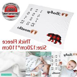Baby Monthly Milestone Blanket for Boy Girl Premium Super So