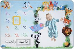 Baby Monthly Milestone Blanket for Boys & Girls with 2 Frame