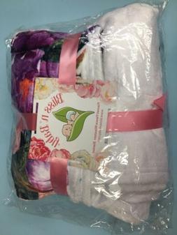 Baby Monthly Milestone Blanket Girl, Floral Plush Fleece, So