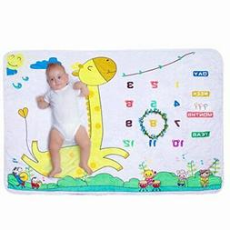 Baby Monthly Milestone Blanket | Newborn Boy & Girl New Mom