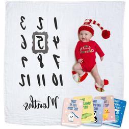 Baby Monthly Milestone Blanket   Newborn Boy & Girl - New Mo