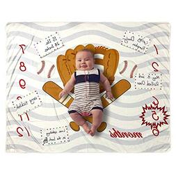 Baby Monthly Milestone Blanket Photo Prop for Newborn Growth