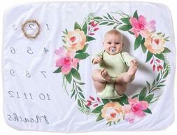 Baby Sunny Bliss Monthly Milestone Blanket Soft Fleece 1 to