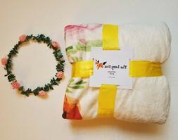 Baby Monthly Milestone Blanket - Soft Fleece & Free Garland,