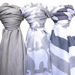 Baby Muslin Swaddle Blanket - Soft 100% Bamboo 3 Pack by Lol