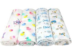 Baby Muslin Cotton Swaddle Blanket Wrap Nursing Cover Burp C