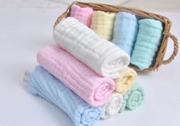 Baby Muslin Washcloths,Newborn Baby Face Towel baby wipes,bi
