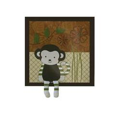 CoCaLo Baby Nali Jungle Applique Baby Boy Monkey Wall Decor