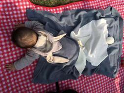 Baby Newborn Cute Big Rabbit Ear Knitted Kids Bath Towel Tod