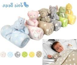 baby newborn cute soft fleece blanket set