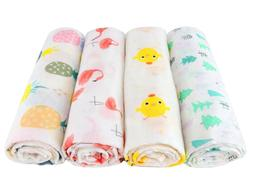 Super Soft Baby Muslin Swaddle Blankets, Wraps, 2-Pack