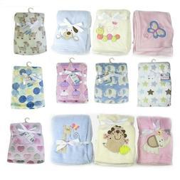 Baby Newborn Soft Fleece Blanket Pram Crib Moses Basket Girl