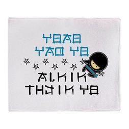 CafePress Baby Ninja Blue Throw Blanket