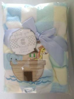 My Baby Noah's Ark Design Plush Blanket