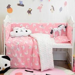 Baby Nursery Bedding Set Cotton Cute Duvet Cover Pillowcase